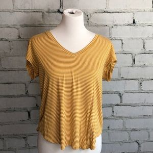 Yellow and White Tee from American Eagle